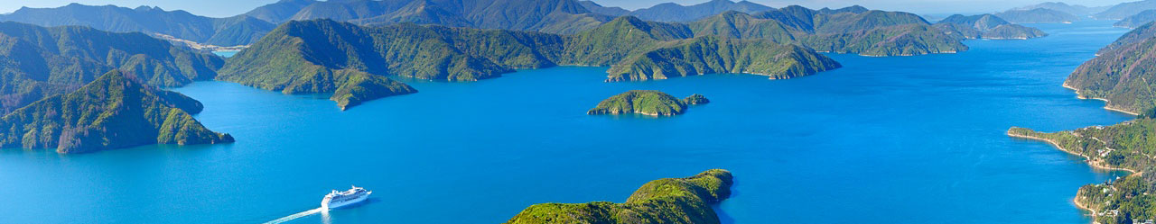 Stunning scenery in the Marlborough Sounds
